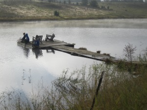 The dock where many a fish was caught.