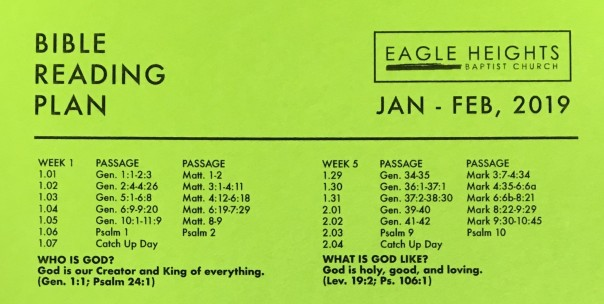 cateachism bible reading plan